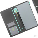 Gray - Premium business small notebook and pen holder