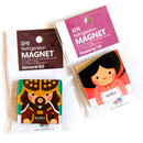 Package for Korean traditional Joseon and Silla character magnet set