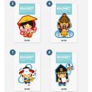 Korean traditional character magnet ver.2