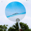 A - Jeju island round hand fan