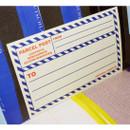 Blue - Post 2 colors large label sticker set
