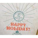 Detail of Vintage green holiday gift bag envelope set