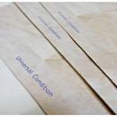 Detail of Vintage blue holiday gift bag envelope