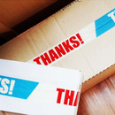 Thanks message packing tape