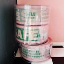 Warning fragile safe message packing tape