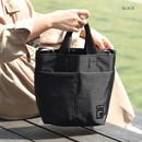 Black - Travelus travel bucket shoulder bag