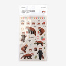 Daily transparent sticker - Lesser panda