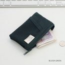 Bluish green - A low hill basic mesh pocket small pouch