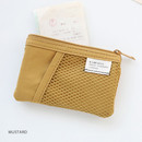 Mustard - A low hill basic mesh pocket small pouch