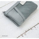 Warm gray - A low hill basic mesh pocket small pouch