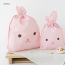 Bunny - Popuree water resistant large drawstring pouch