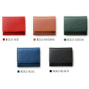 Colors of Day classic cowhide leather trifold wallet