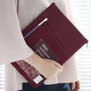 Raspberry - A low hill basic mesh pocket file pouch