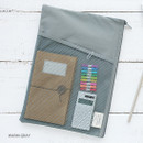 Warm gray - A low hill basic mesh pocket file pouch