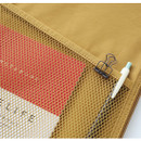 Detail of A low hill basic mesh pocket file pouch