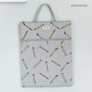Matchstick - Jam Jam pattern zipper large tote bag