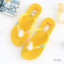 Yellow - Moomin women's flip flop
