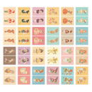Composition of Sweety small label sticker set