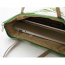 Detail of Jam Jam pattern zipper small tote bag