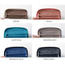 Colors of Simple zippered accordion card wallet