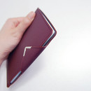 Wine - Simple passport holder with magnetic snap closure