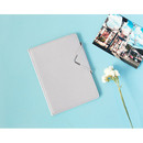Silver - Simple passport holder with magnetic snap closure