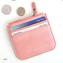 Pink - Simple flat pocket card case holder