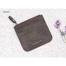 Brown - Simple flat pocket card case holder