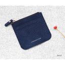 Navy - Simple flat pocket card case holder
