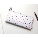 Sea - Pattern zipper slim pencil case