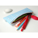 Animal - Pattern zipper slim pencil case