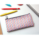 Flowery - Pattern zipper slim pencil case