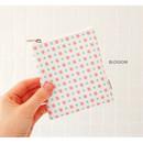 Blossom - Pattern small zipper flat pouch