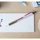 Pipi - Ice cream knock retractable black ballpoint pen 0.38mm