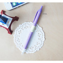 Piya - Ice cream knock retractable black ballpoint pen 0.38mm