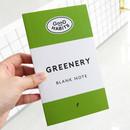 Good habits Greenery plain noteboo