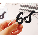 Look at me earphone cable winder - glasses