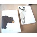 Bear, Deer - Bear Deer small plain notebook