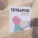 Tetrapod sticky memo note