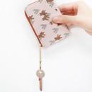 Key ring - Willow pattern half zip around card case wallet