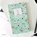 Mint tea - Willow pattern slim undated diary scheduler