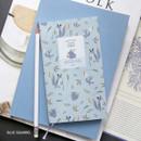 Blue squirrel - Willow pattern slim undated diary scheduler