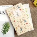 Yellow donkey - Willow pattern slim undated diary scheduler