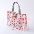 Size - Blossom pattern multi zippered tote bag