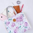 Hydrangea - Blossom pattern multi zippered tote bag