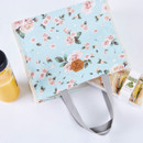 Rose - Blossom pattern multi zippered tote bag
