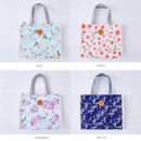Option - Blossom pattern multi zippered tote bag