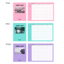 Pink, Mint, Violet - Chill out undated weekly planner