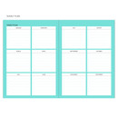 Yearly plan - Chill out undated weekly planner