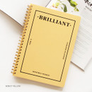 Honey yellow - Brilliant spiral undated weekly diary scheduler